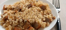 Arroz integral con carne